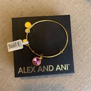 Alex & Ani gold October birthstone bracelet